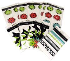 Bulk Lot #47 S.E.I. Black Orchid Scrapbook Dimensional Stickers Die-Cuts+ 58 pcs