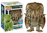 FUNKO POP BOOKS #03 CTHULHU (PATINA) NYCC 2015 EXCLUSIVE VINYL~FAST POST 🎀