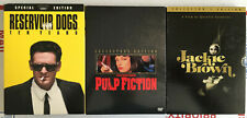 Quentin Tarantino Dvd Movies Pulp Fiction Reservoir Dogs Jackie Brown