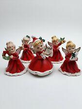 Vintage Set of Five Napco Christmas Angel Figurines