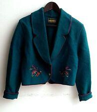 Damen Trachten Janker Jacke grün m. Stickerei Gr. 36 v. Geiger