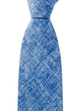 "Men's BRIONI dis E040278 Steel Blue Chambray Pattern 3.25"" Silk Neck Tie NWT"