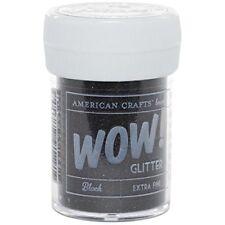 American Crafts Glitter, Extra Fine Black