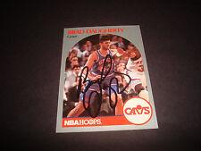 Brad Daugherty 1990 NBA Cerceaux #73 Cavs North Carolina Signé Original Auto A14