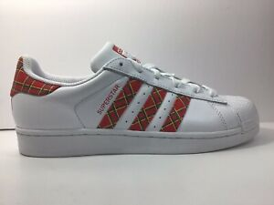 Adidas Superstar Originals Women White/Red Casual Sneakers/Shoes US Size 6.5