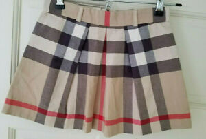 Burberry Girls Skirt Classic Pleated Nova Check Size 6  24036