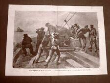 Guerra civile o di secessione in America nel 1865 Cannoniera vs nave del sud USA