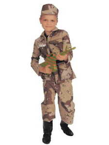 Young American Heroes Special Forces Kids Costume-Rubies  (light)(S,M,L)