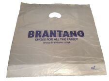 """1000 CLEAR Misprinted Strong Fashion Patch Handle Plastic Carrier Bags 17"""" X 18"""""""