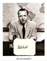 Walter Cronkite Autograph Legendary Evening News Anchor CBS Broadcast Journalist