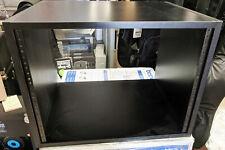 Compact 10RU Rack Cabinet for Home Studio, One Side Racks, Black Sturdy Pro Made