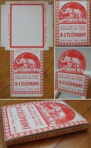 Elephant 1930s Razor Blades Advertising Display Box, Countertop Item