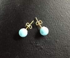 Orecchini earrings oro Gold turchese 750 18 kt