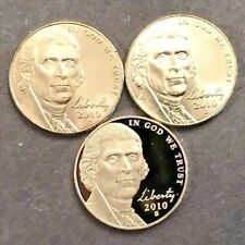 2010 P D S Jefferson Nickel Coin Set 2 Uncirculated Mint Set Coin's 1 Proof Coin