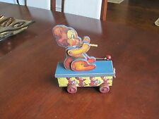 VINTAGE PULL TOY, Flute Playing Bear (good condition)