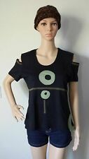 LD9 COTTON DRESS NEPAL : Funky Hippie Bohemian Cute Top Blouse T-shirt L