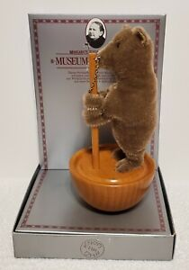 """Steiff Roly-Poly Circus Bear, LE of 9000, 0082/20, 7"""" tall on wooden stand, MIB"""