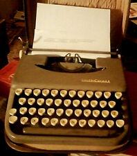 Vintage 1950s Era Smith Corona Skyriter Typewriter With Carrying Case