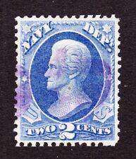 US O36 2c Navy Department Used VF-XF w/ Violet Cancel SCV $26.50