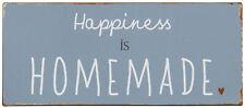 """Ib Laursen Metallschild """"Happiness is Homemade"""" Dekoschild Wandschild"""
