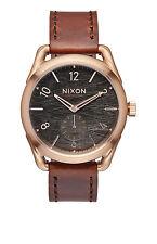 New Nixon C39 Rose Tone Brown Leather Strap Unisex Swiss Quartz Watch A4591890