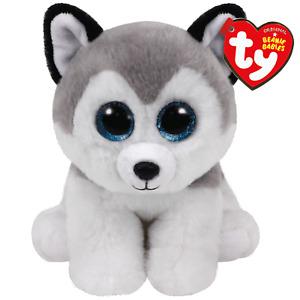 "Ty Beanie Baby 6"" BUFF the Husky Dog Plush Stuffed Animal Toy MWMTs Heart Tags"