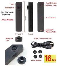 16GB Cámara oculta botón de camisa Mini espía Cam DV DVR Video Grabadora Videograbadora UK