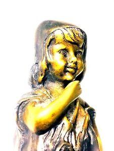 Statue Sculpture Angel one shoe  Art Deco Style Art Nouveau Style Solid bronze