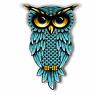 """Owl teal blue Sticker for Cars Trucks Laptops ipad Locker Bumper Decal 5.5"""" tall"""