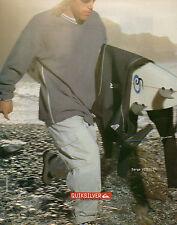 Publicité 1999 QUIKSILVER vetement chaussure sport collection mode Serge Vitelli