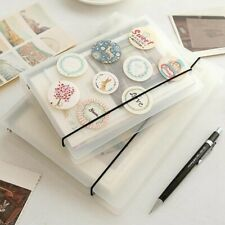 A5 A6 A7 Transparent Loose Leaf 6 Ring Binder Notebook Planner Diary Cover Gifts