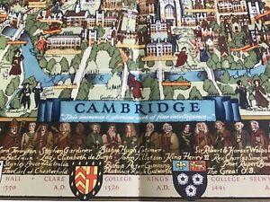Large pictorial map of Cambridge 50cm. X 66cm.