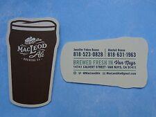 Mini BEER Bar Coaster ~ MACLEOD Brewing Co Ale ~ Brewed Fresh in Van Nuys, CA