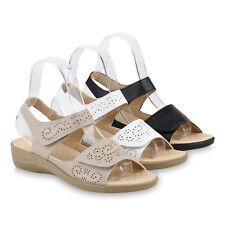 Damen Sandaletten Keilsandaletten Bequeme Keilabsatz 822248 Schuhe