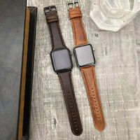 Leather Watch iwatch wrist Strap Band For Apple Watch Series 6 SE 5 4 42mm 44mm