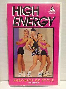"AEROBICS OZ STYLE ""HIGH ENERGY"" ~ VHS VIDEO ~ AS NEW"