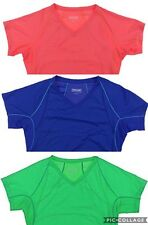 Kirkland Ladies Semi Fitted V Neck T Shirt Top Sports Yoga Gym Running Wicking