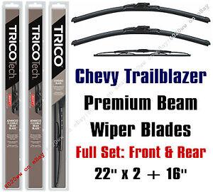 Chevrolet Chevy Trailblazer 2002-2006 Wiper Blades 3pk Front/Rear 19220x2/30160