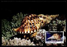 WWF Gemeines Tritonshorn. Maximumkarte. Marchallinseln 1986