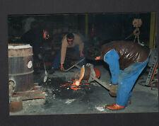 FRETEVAL 41 : FONDERIE / mise en LINGOT , Coulée de BRONZE en 1996