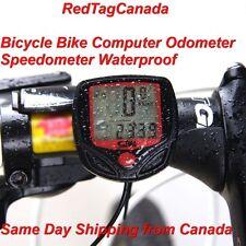 New LCD Display Cycling Bicycle Bike Computer Odometer Speedometer Waterproof NR