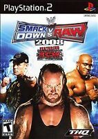 PS2 WWE SmackDown vs. Raw 2008 Featuring ECW Disc Only TESTED 100% Guaranteed