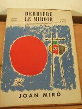 Derrière Le Miroir Revue Art Moderne XX MIRO n°14-15 Maeght Edition- Incomplet