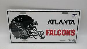 NOS Vintage Metal Embossed Front License Plate Car Tag Atlanta Falcons NFL