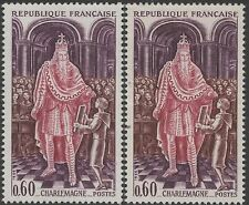 "FRANCE TIMBRE N° 1497 "" CHARLEMAGNE VARIETE COULEUR"" NEUF xx TTB K134C"