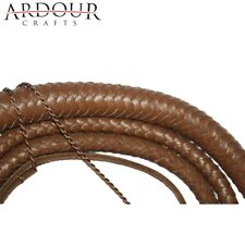 Indiana Jones Cow Hide Leather 06 Feet Long 08 Plait Weaving Bull Whip Brown