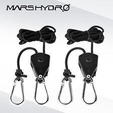 1Pair 1/8'' LED Grow Light Rope Ratchet Hanger Heavy Duty YOYO Hanger 75LBS 34KG