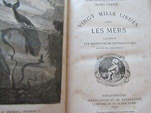 Vingt mille lieues sous les mers / Jules Verne / Hetzel / Reliure Petibled