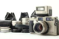 【N MINT+++】 Contax G2 Camera + 28mm , 45mm , 90mm Lens + TLA200 Flash from JAPAN