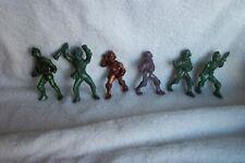 6 Vintage 1950's Ajax Space Man Spacemen Marx Hard Plastic Figures See Listing